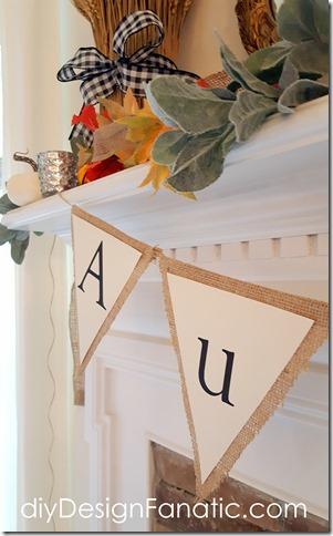 fall mantel, fall banner, autumn banner, cottage, farmhouse, fall decor