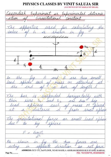 Gravitation  handwritten notes