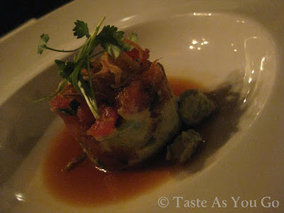 Hawaiian Ahi Tuna Tartare at Moshulu in Philadelphia, PA - Photo by Michelle Judd of Taste As You Go