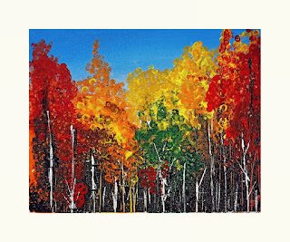 Painting of trees by Mukund Kapoor