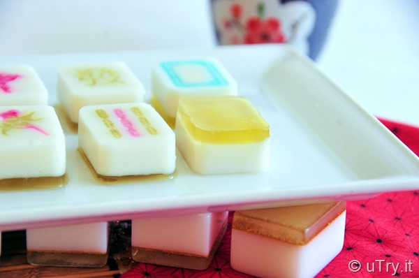 How to Make Chinese MahJong Coconut Osmanthus Jello 麻雀椰汁桂花糕   http://uTry.it