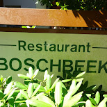 Boschbeek restaurant in Velsen, Noord Holland, Netherlands