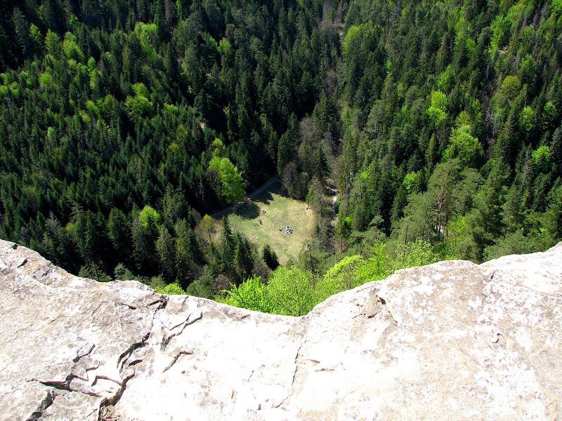 Widok ze skalnej ściany