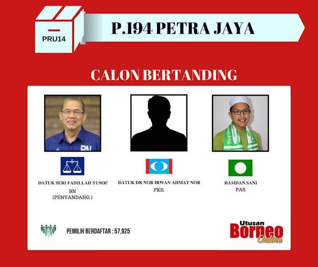 #PRU14 :Fadillah bersama dua calon pembangkang tiba untuk proses penamaan kerusi Parlimen Petra Jaya