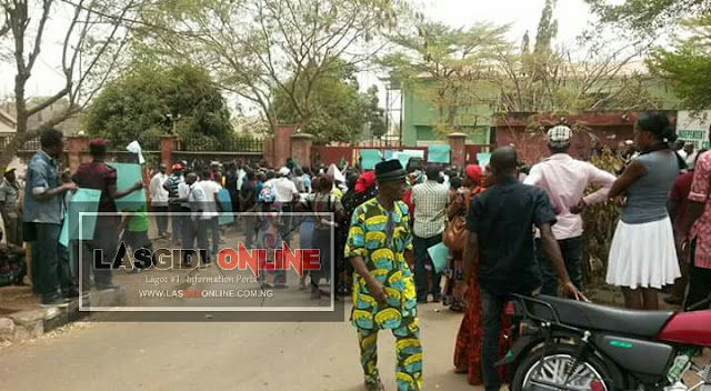 APC, INEC, News, Benue, David Mark, Dan Onjeh, Benue News, APC Rejects Benue South Rerun Result, Protest To INEC Office (Photos)