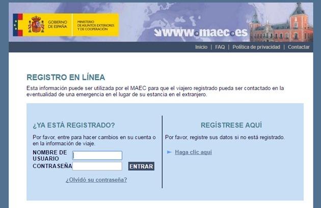 Abrir mi cuenta en Registro de Viajeros de España