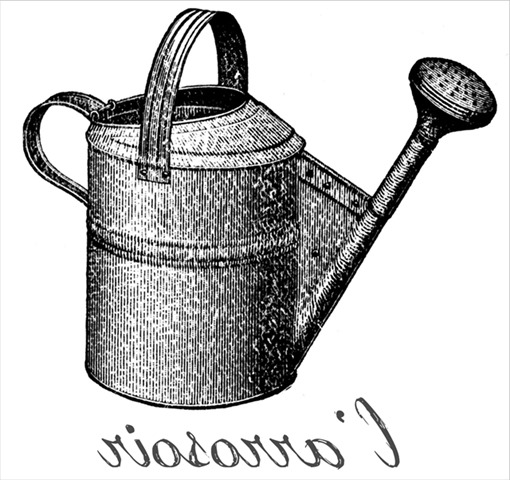 CONFESSIONS OF A PLATE ADDICT Vintage Watering Can reversed