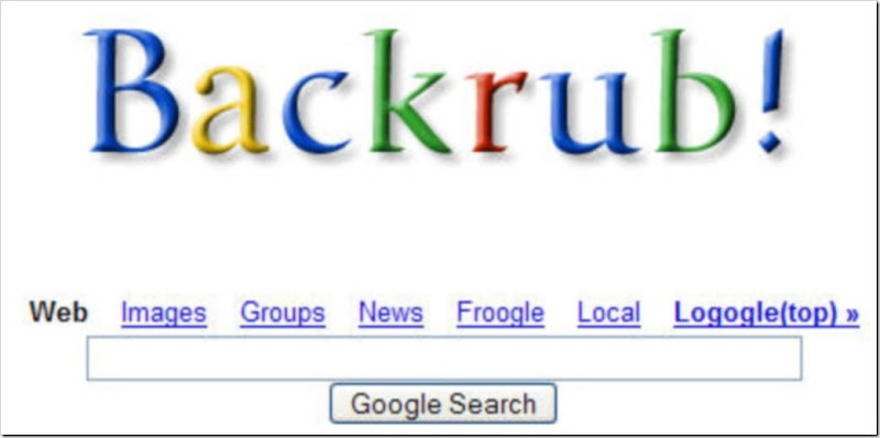 google initially started as backrub