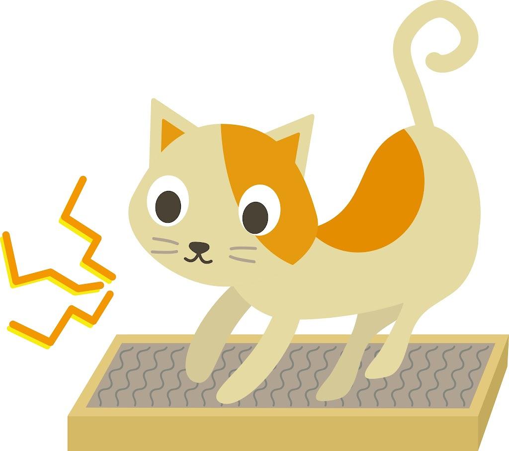 爪研ぎする猫のイラスト