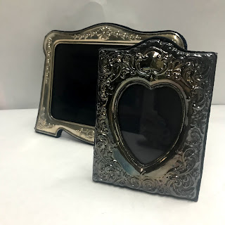 Sterling Silver Ornate Picture Frame Pair