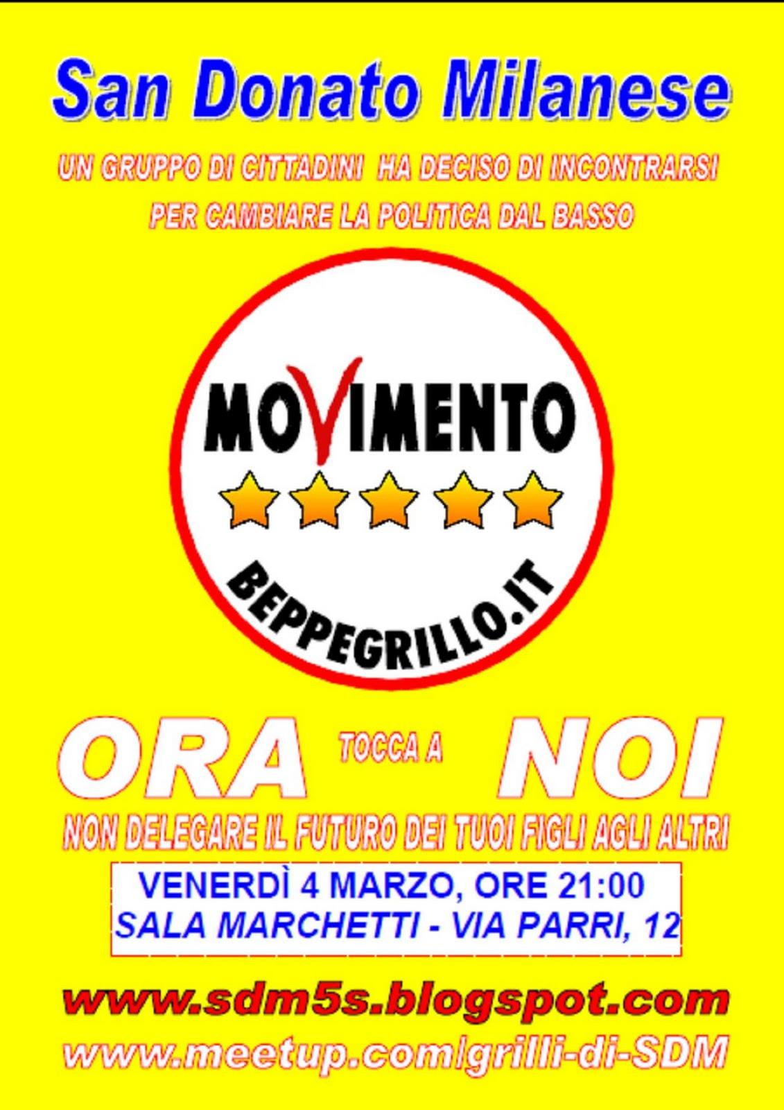 Movimento 5 stelle san donato milanese venerdi 4 marzo for Diretta dalla camera dei deputati