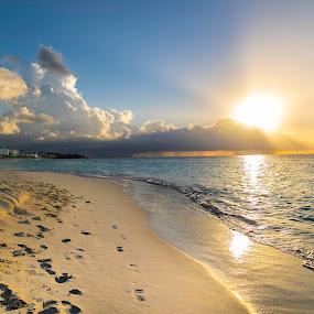 Shoal bay sunset by Greg Bracco - Landscapes Beaches ( canon, anguilla, canon 1d x mark ii, greg bracco, beaches. beach, greg bracco photography,  )