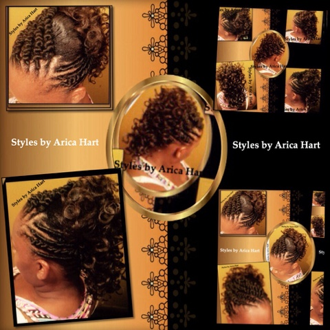 Trendy hair styles, Mohawk hair style image, stuffed twit Mohawk image. Black hair image, black hair blog