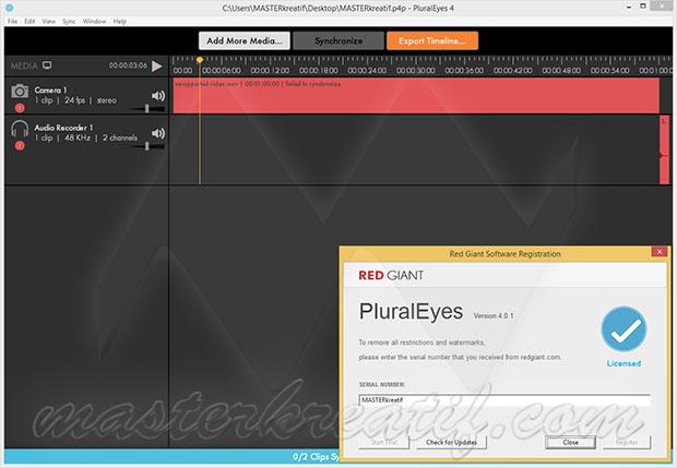 pluraleyes 3 serial number