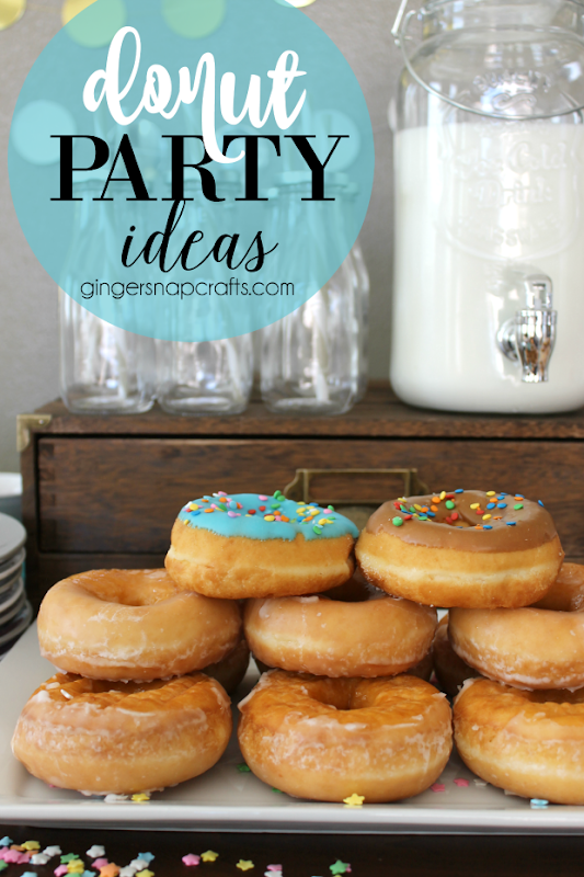 Donut Party Ideas at GingerSnapCrafts.com #donut #partyideas
