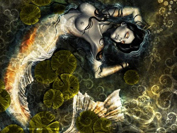 Fantasy Naked Mermaid, Undines