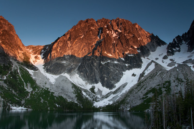 Dragontail Peak at Sunset