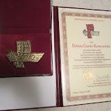 13 Lutego 2013, Medal Przełożonego Generalnego dla pani Elżbiety Gurtler-Krawczyńskiej. - Medal%2Bfrom%2BSChr.2.12.13.jpg