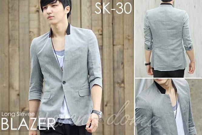seven domu sk30 gray korean blazer style