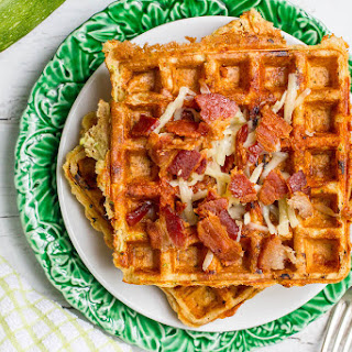 Zucchini Cheddar Whole Wheat Waffles.
