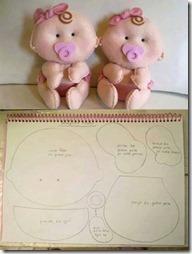 muñecos moldes d