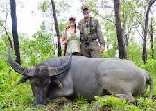 A non trophy buffalo taken by Miss Natasha Gitlitz, USA using a 375 H&H.