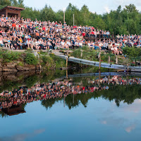 Audience at Bone Lake Amphitheatre - by Hermann Thoene