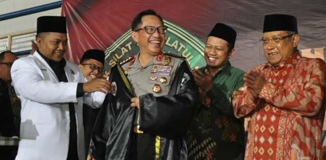 Ketum Pagar Nusa Nabil Haroen, Kapolri Tito Karnavian, dan Ketum PBNU, KH. said Agil Siraj.