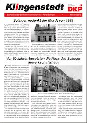 Faksimile: Titelseite Klingenstadt, Mai-Juni 2013.
