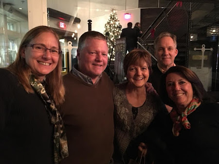 Carrye Massey, Jim & Brenda Stansbury, John McLaughlin, & Delia Edelmann trying to decide who's been naughty and who's been nice
