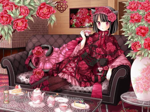 Red Anime Cat, Magic Beauties 1