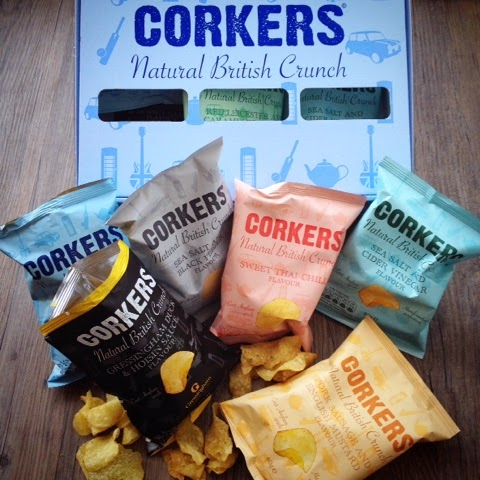 Foodie Parcels In The Post - April 2015 - Review - Corkers British Crisps