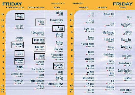 Pet Bear Sounds: COACHELLA 2014: Set Times, Selections and a New Approach.