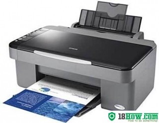 How to reset flashing lights for Epson DX4050 printer