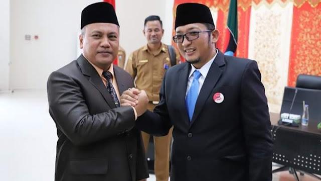 Kabag Umum Budi Payan Salam Kompak Dengan Wawako Hendri Septa.