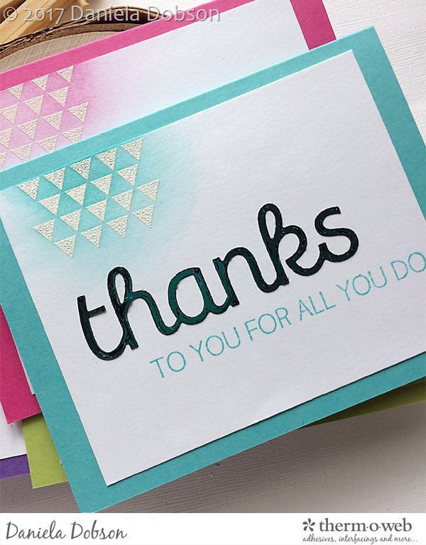 Thank you card set close 3 by Daniela Dobson