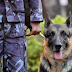Police team mobilized with trained dogs at the western border