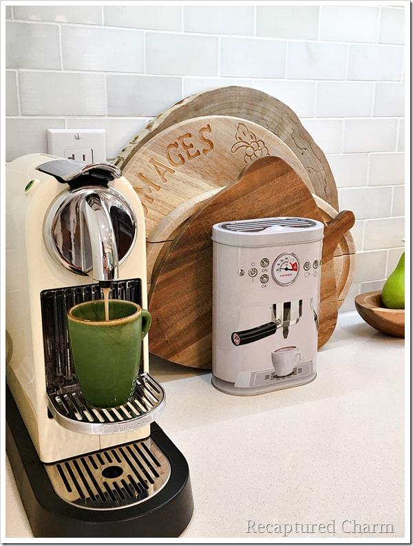 kitchen makeover coffee corner 2