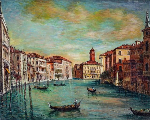 Giorgio de Chirico - Venezia-Canal Grande