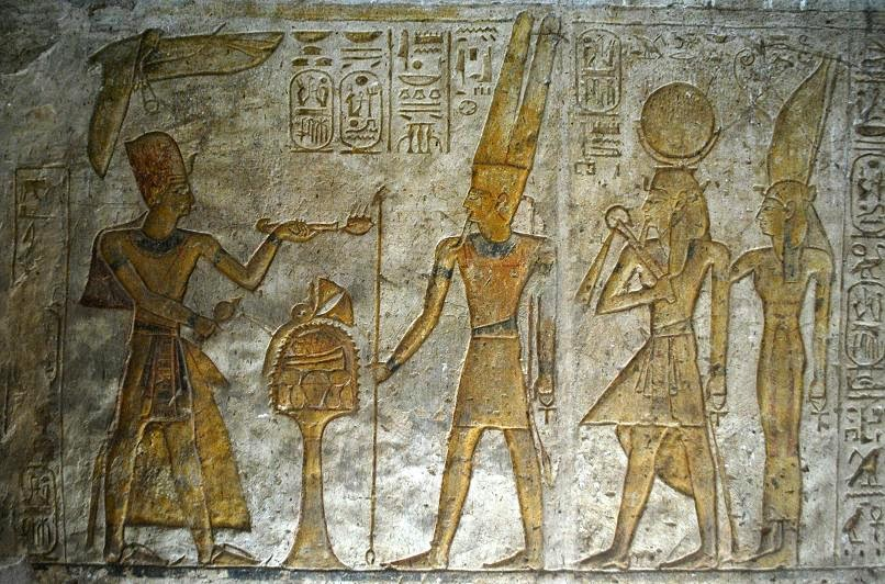 wadi-es-wadi-essebua-ramesses-ii-offers-to-the-theban-triad