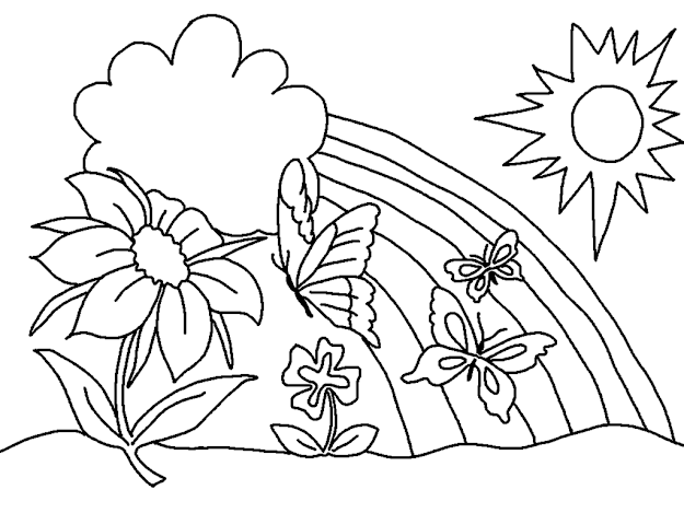 Spring Coloring Pages Printable Spring Coloring Pages Free On Free  Printable Spring Coloring Pages For Adults