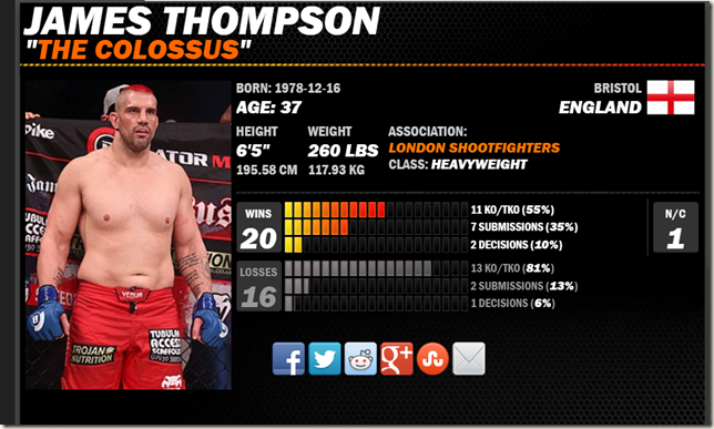 Thompson cage fighter