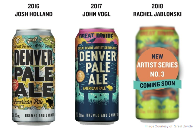 Great Divide Releases Third Edition of Denver Pale Ale Artist Series