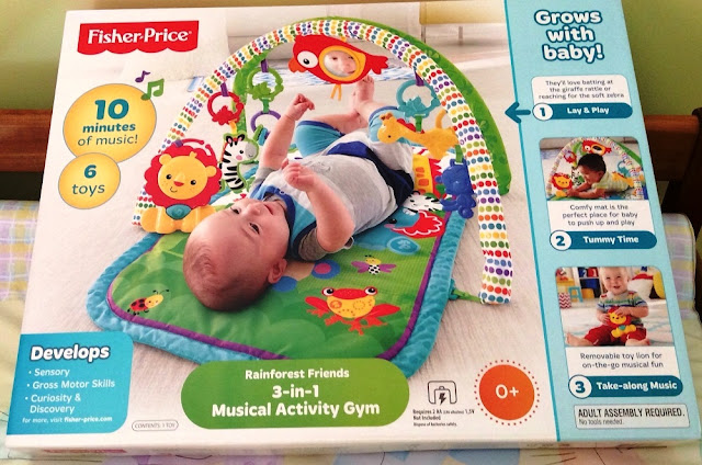 Sản phẩm Thảm chơi trẻ em Fisher-Price Rainforest Friends 3-in-1 Musical Activity Gym