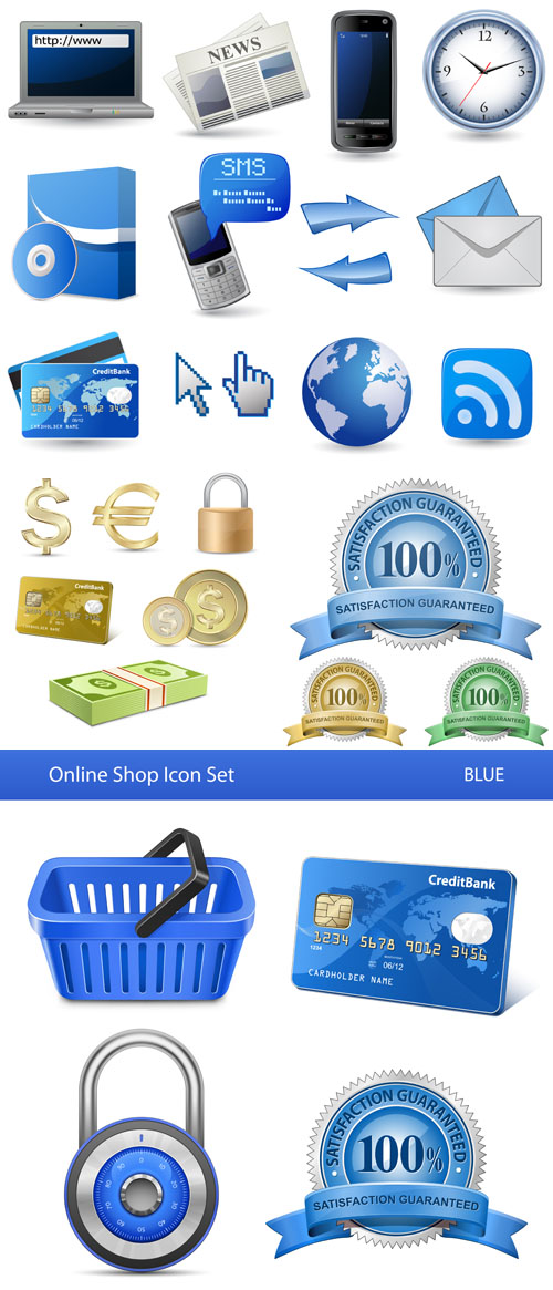 Stock: Online Store Icon Set