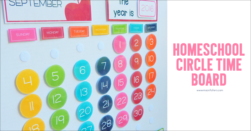 Homeschool Circle Time Board
