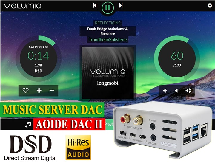 music server dac aoide dac ii