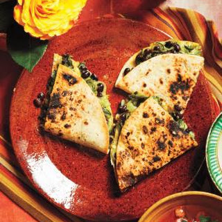 Quesadillas with Poblano Peppers and Beans Recipe
