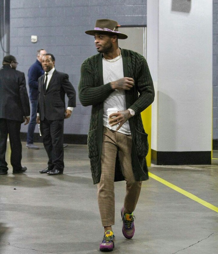 3f7a483df98a0 PJ Tucker arrives for Houston Rockets Vs Dallas Mavs game wearing a ...