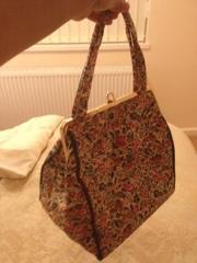 Floral vanity bag